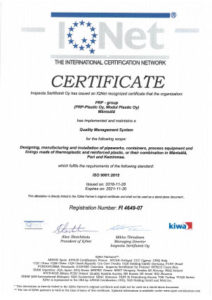 ISO 9001_2015 IQNet Certificate 4649